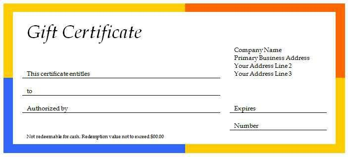 40+ Gift Certificates Templates for Any Occasion | Microsoft and ...