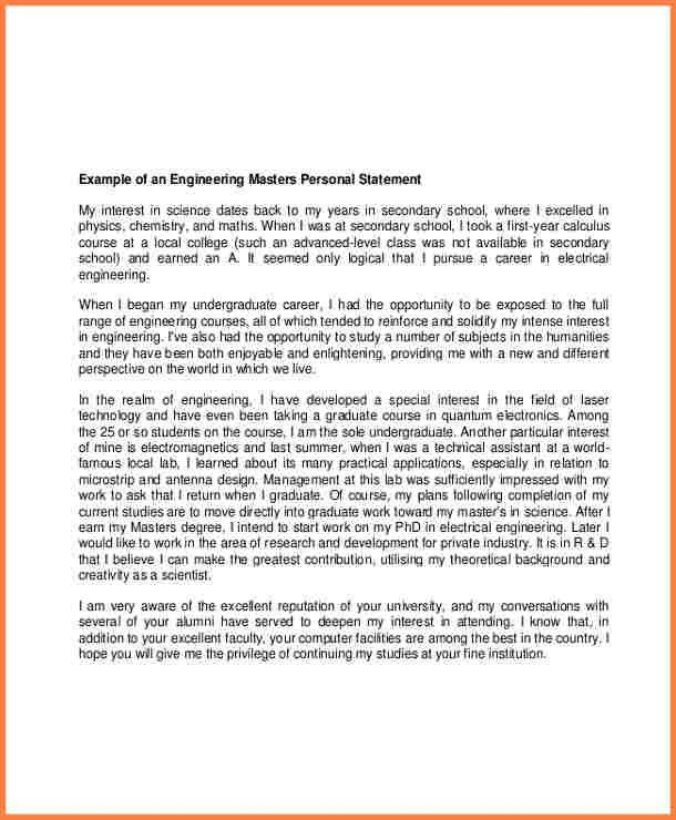8+ Personal Statement Graduate School Sample | Statement Synonym