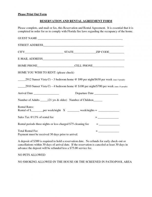 Rental Agreement California : Apartment Lease Templates. Blank ...