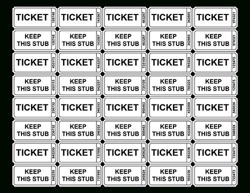 Free Printable Raffle Ticket Template - gameshacksfree