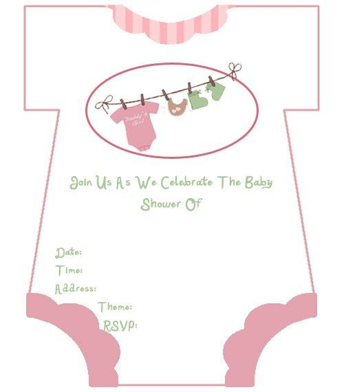 Fascinating Baby Shower Invitation For Girl Printable Free 70 On ...