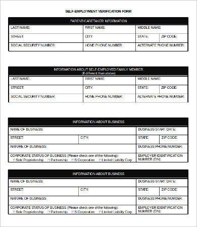 Employment Verification Form - 9+ Free Word, PDF Documents ...