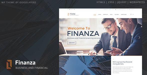 Finanza - Business & Financial WordPress Theme by GoodLayers ...