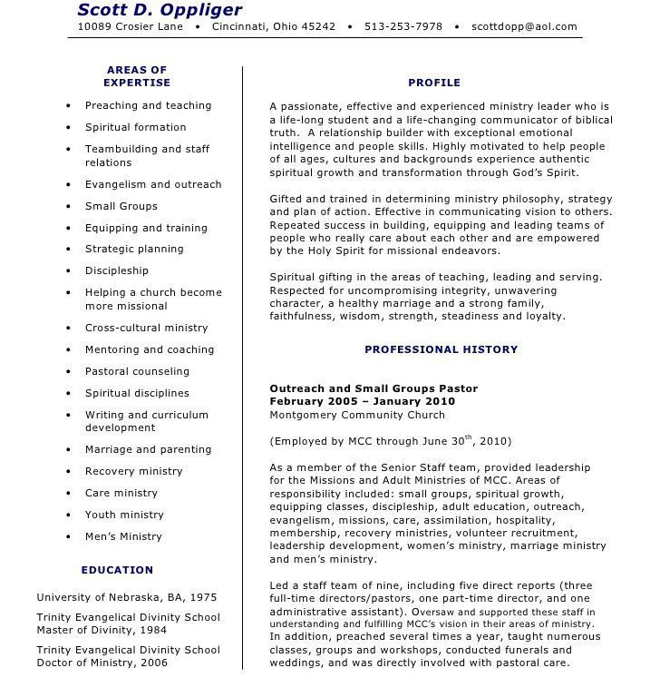 pastors resume sample resume cv cover letter. scientific ...
