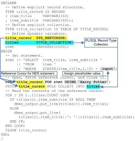 PL/SQL NDS Reference Cursor with Record Collection | MacLochlainns ...