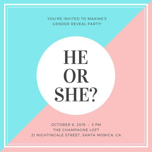 Gender Reveal Invitation Templates - Canva