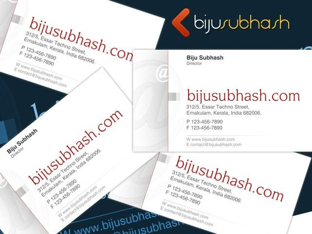 Business Card Template | bijusubhash.com
