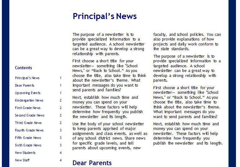 School Newsletter Templates | School Newsletter Templates