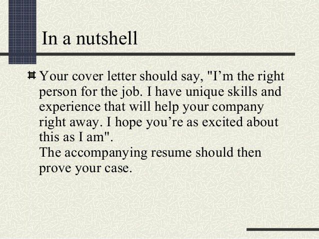 What Should You Say In A Cover Letter