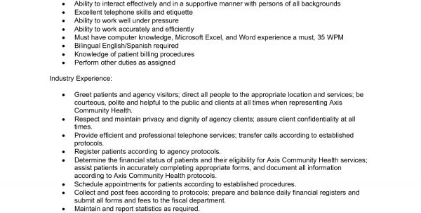 updated. front desk resume sample. medical administrative ...