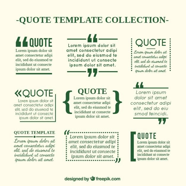 Quote templates in newspaper style Vector | Free Download