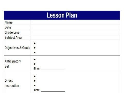 Lesson Plan Outline. High School Lesson Plan Template Pdf Sample ...