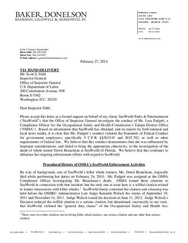 Osha Complaint Respond Letter Template - Compudocs.us
