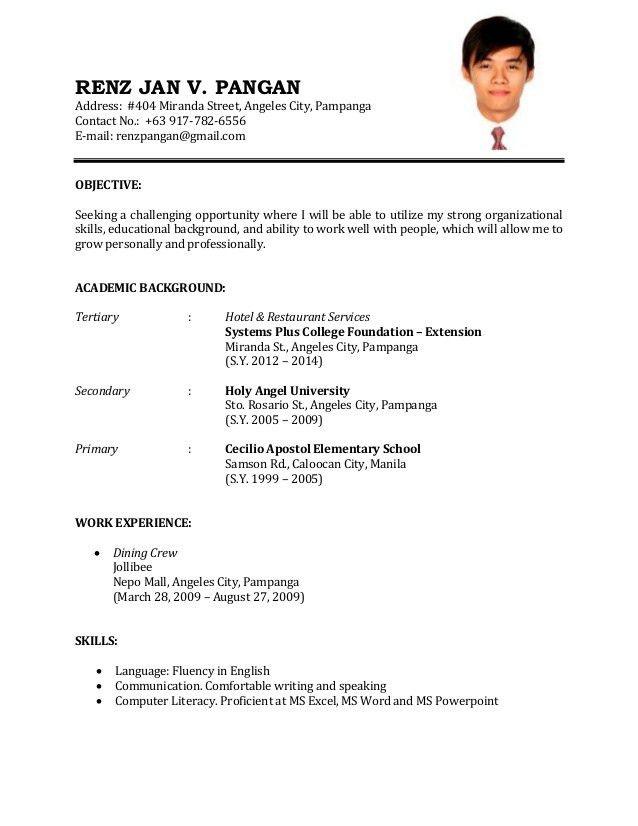 Resume Sample - Resume Cv