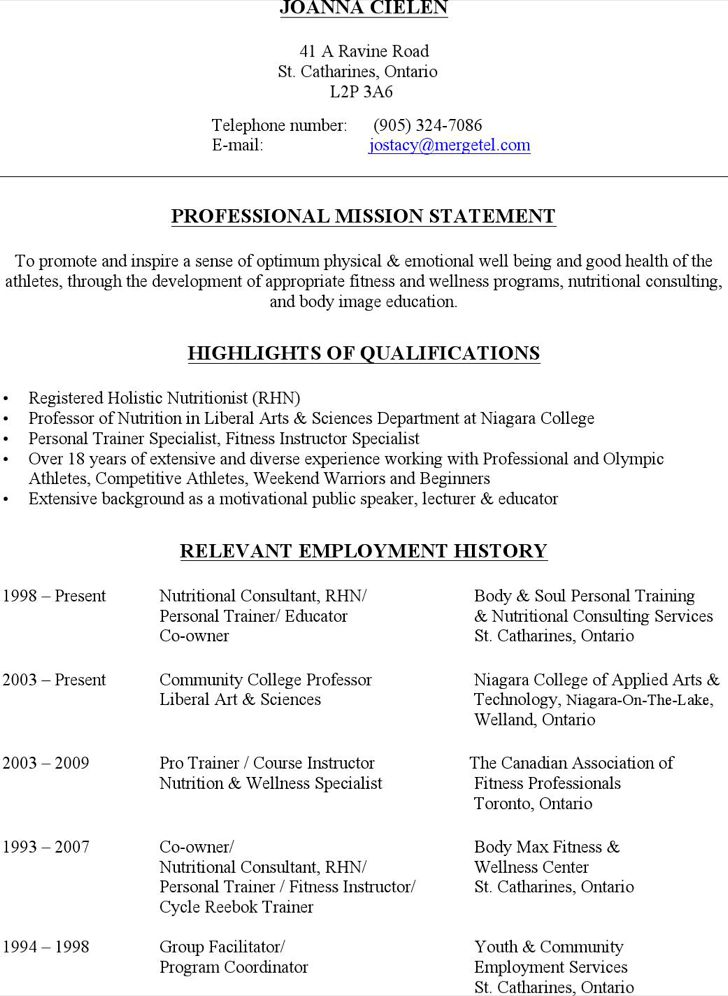 nutrition resume examples nutritionist resume samples visualcv ...