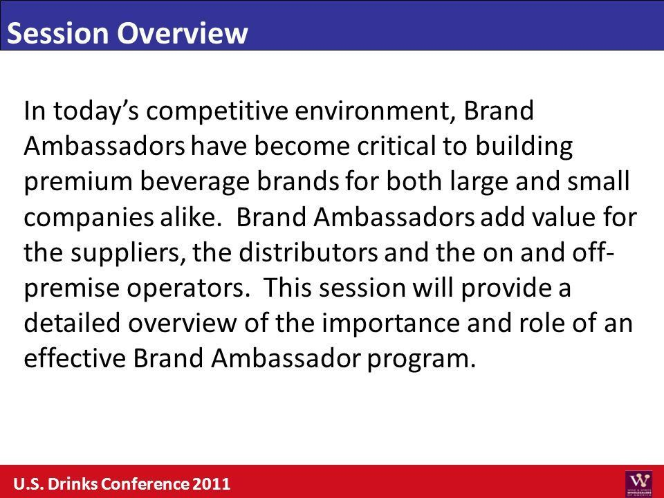 Session Overview In today's competitive environment, Brand ...