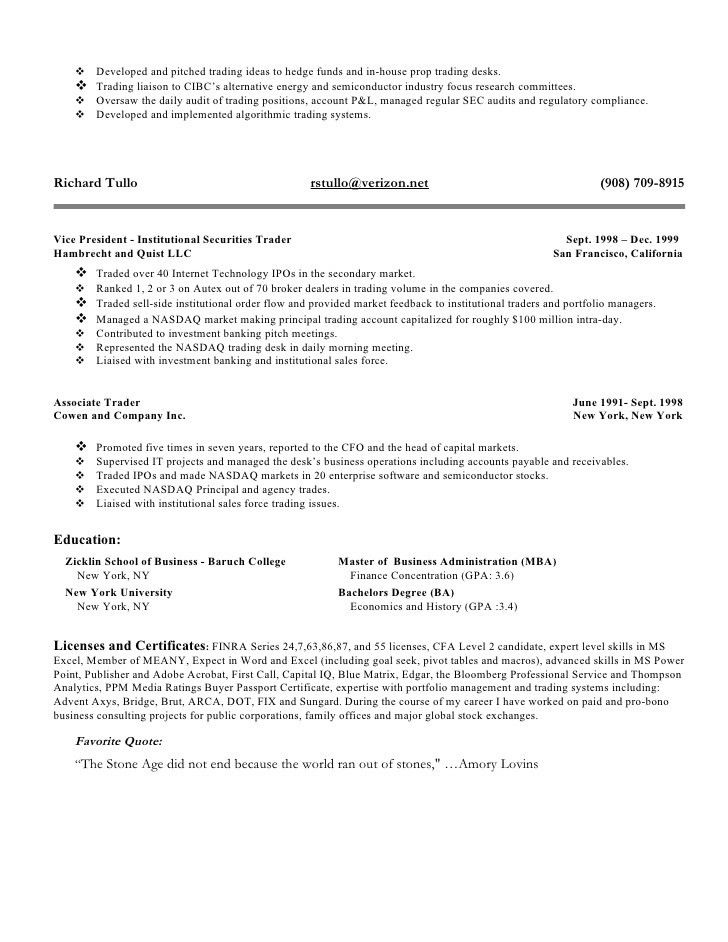 equity trader resume examples 3. day trader resume stock option ...