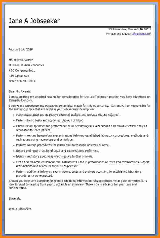 Technician Cover Letter Sample