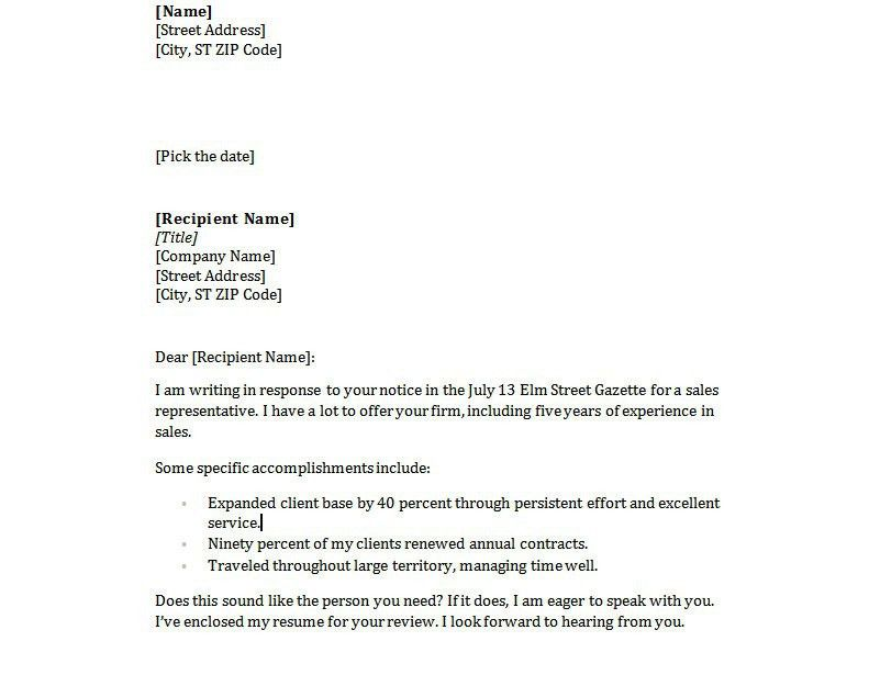 Basic Cover Letter Samples inside Simple Cover Letter Sample - My ...