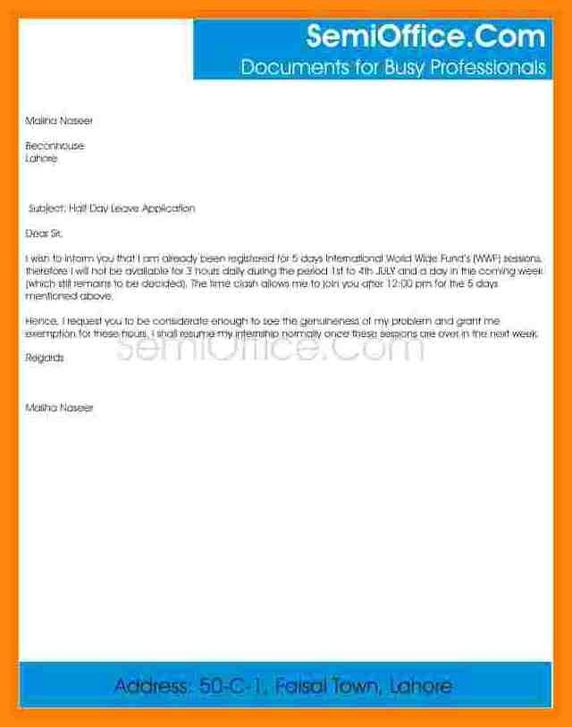 Leave Application Format For Office [Template.billybullock.us ]