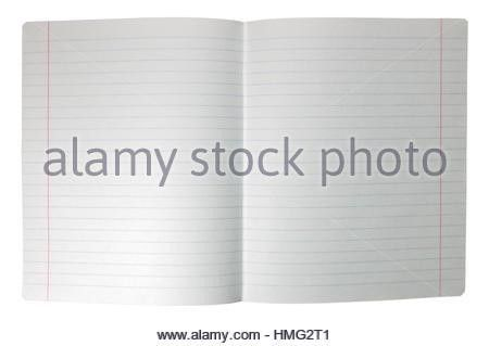 Spread double sheet of open lined note paper background texture ...