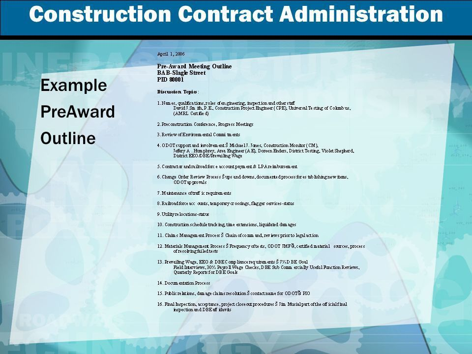 Construction Contract Administration - ppt video online download