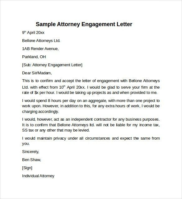 20+ Bookkeeping Letter Of Engagement Template | Pin Related ...