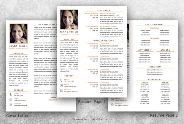 Acting Resume Template Word - Resume Template Start
