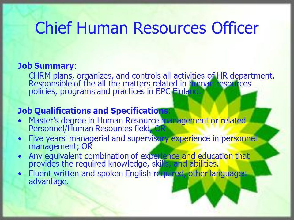 Human Resource Management Plan - ppt download