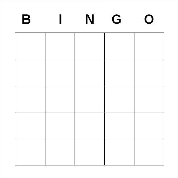 Sample Blank Bingo - 8+ Documents in Word, PDF