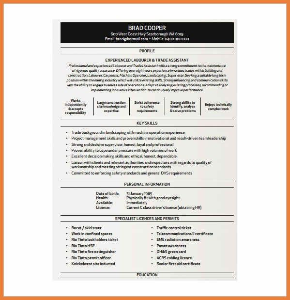 Carpenters Resume Examples And Samples. carpenter resume example ...