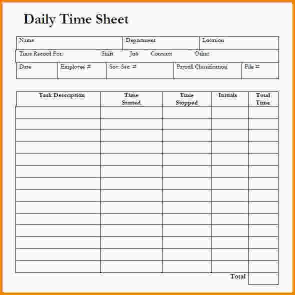 Free Timesheet Templates.Daily Timesheet Template Free Download .