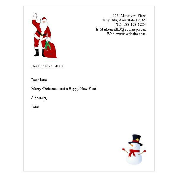 Free Holiday Letterhead Template – Websites that Offer free ...