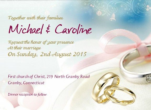 Wedding Invitation with Sample Wording | Office Templates Online