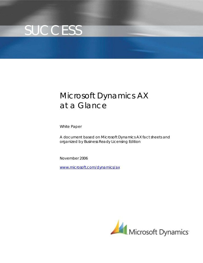 Microsoft Dynamics White Paper Template US