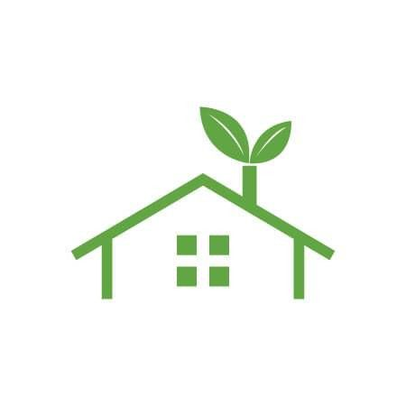 Green Eco House vector Logo Template fot your Eco Company