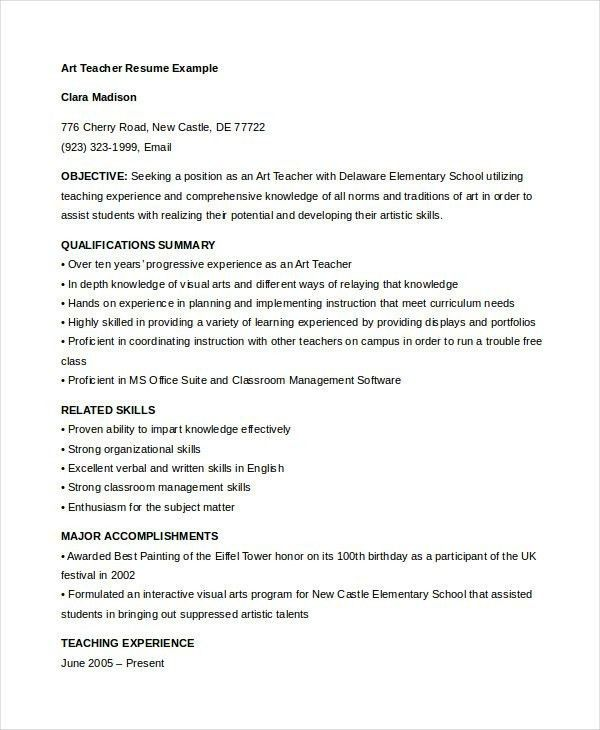 Day Care Teacher Resume - Best Resume Collection