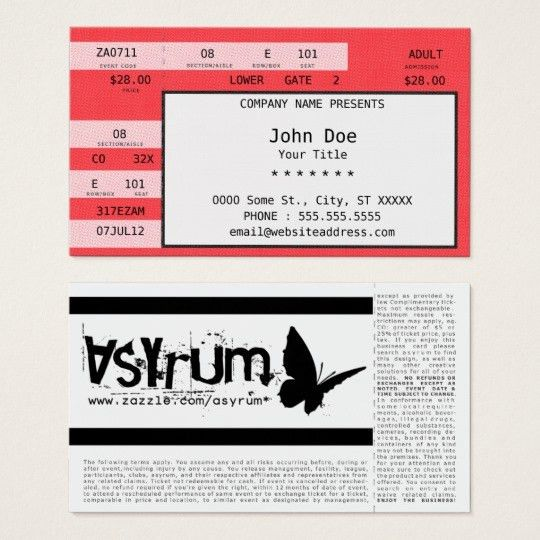Concert Ticket Gifts on Zazzle