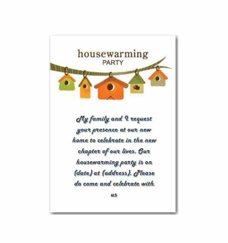 Housewarming Invitation Template. Warm Bright Housewarming ...
