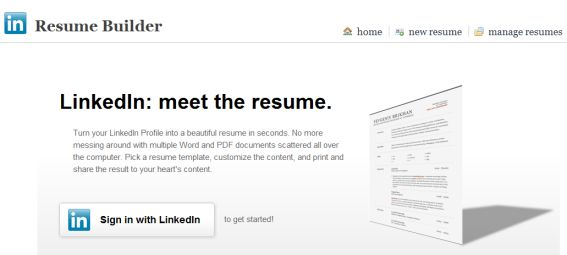 Resume Builder: Create a Resume From Your LinkedIn Profile