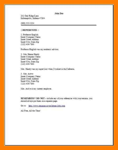 sample resume reference page page x with resume reference sheet ...