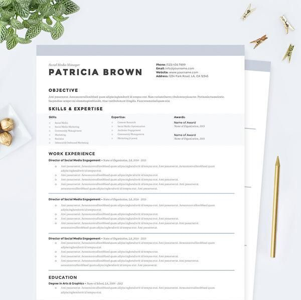 Clean Resume, Cover Letter & References Template Package – Janna Hagan