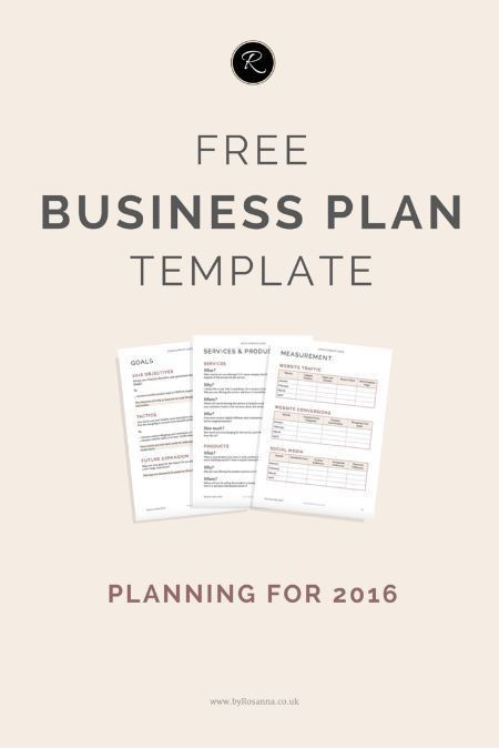 Get organised in 2016! Download this FREE Business Plan template ...