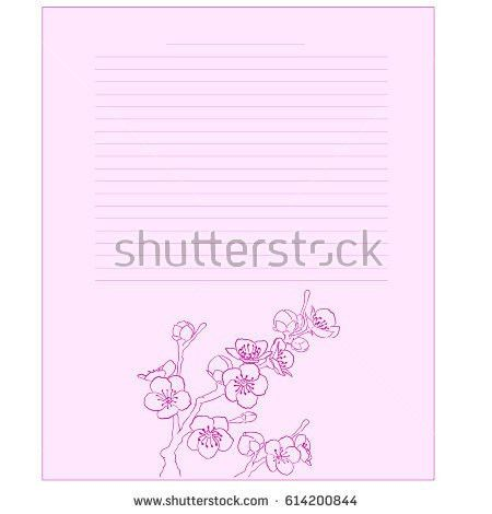 Diary Page Template Notepad Page Horse Stock Vector 614200700 ...