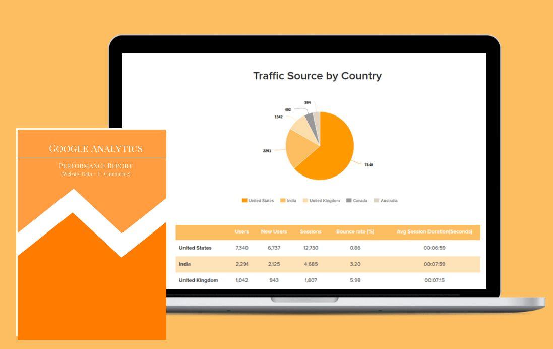 Google Analytics Monthly Client Report Template   ReportGarden