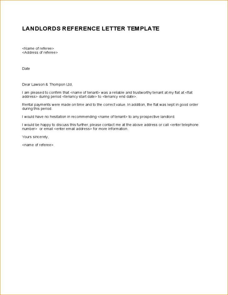 7+ landlord reference letter | academic resume template