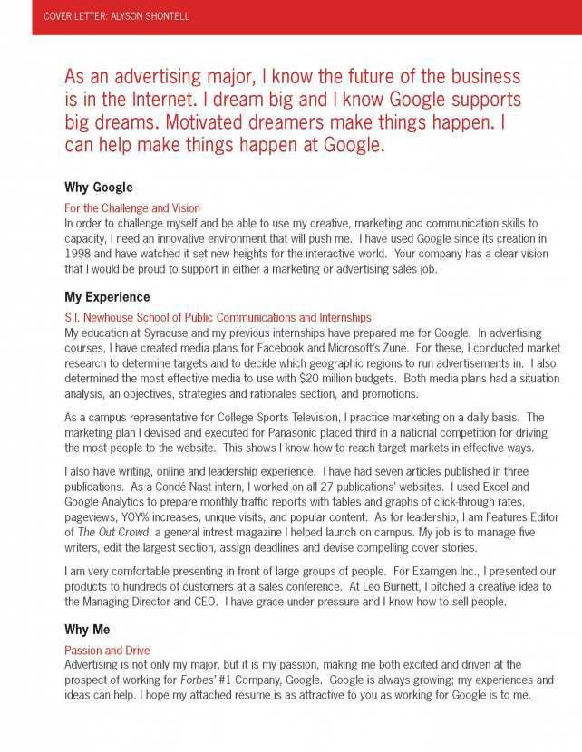 This Is The Application That Got Me A Job Interview With Google ...