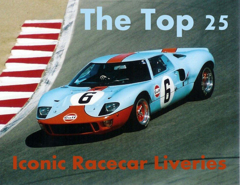 The Top 25 Most Iconic Racecar Sponsor Liveries of All Time