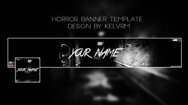 Space - Youtube banner template | Kelv Designs™ - Sellfy.com