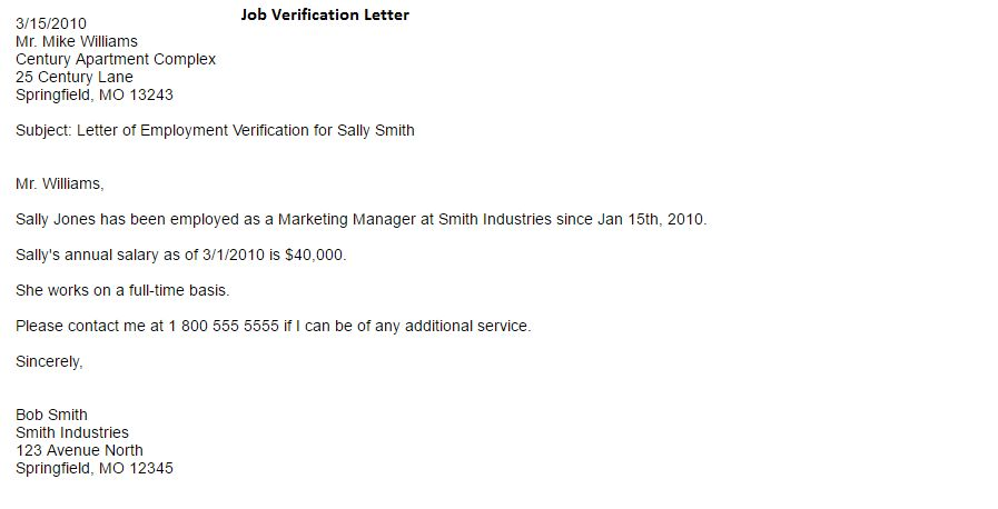 Job Verification Letter - Writing Professional Letters